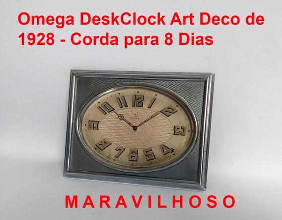 Relógio Omega Art Deco De 1928 8 Dias Maravilha