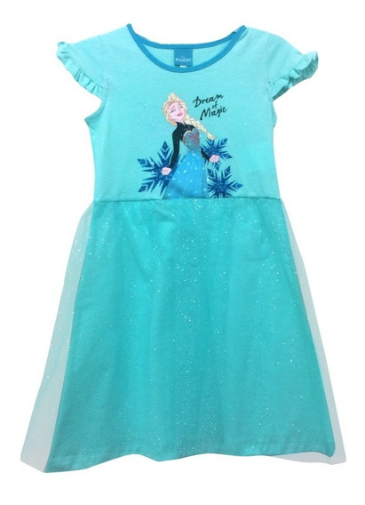 Vestido Fiesta Minnie Mouse Y Frozen Disney Official Niña
