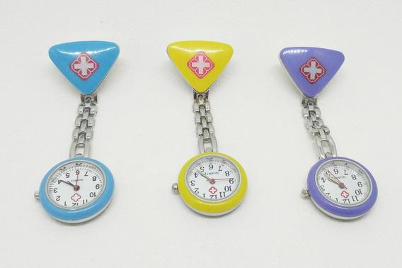 Relógio De Bolso Em Metal Para Enfermeiras Kit 27 Unidades