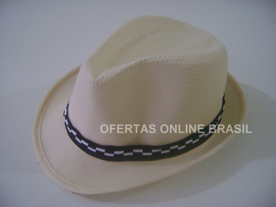 Chapéu Infantil Malandrinho Fedora Estilo Panamá