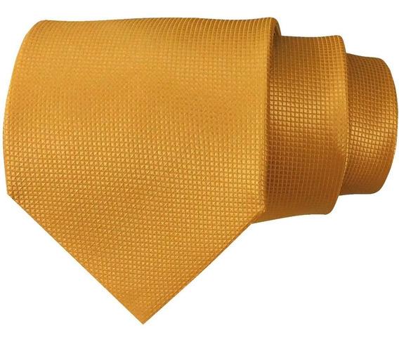 Corbata Color Dorada Para Caballero Sp0003