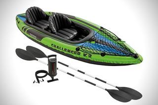 Caiaque Inflável Duplo 160kg K2 Challenger Intex Canoa Verde