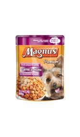 Ração Magnus Sache Cães Pequeno Porte Sabor Carne Ao Molho 8