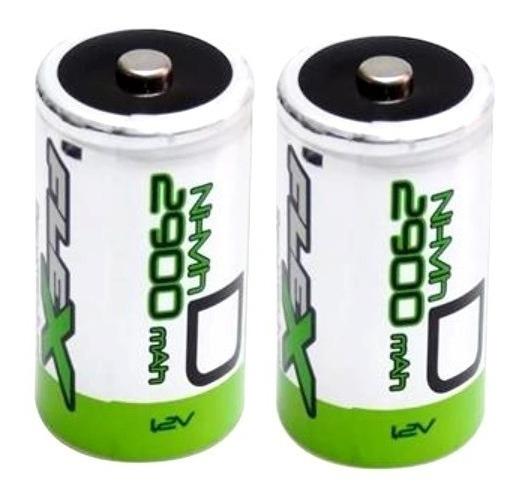 Bateria Grande Tipo D Recarregável Flex 2900mah 1,2v Origina