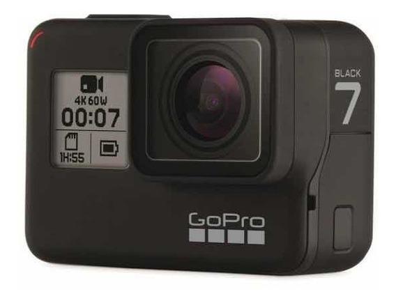 Gopro 7black 12mp 4k Cart64gb +2bat+carregador+2 Acessórios