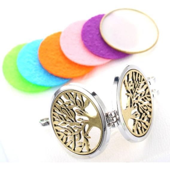 Collar Medallon Aromaterapia Acero Inoxidable Mpb-281