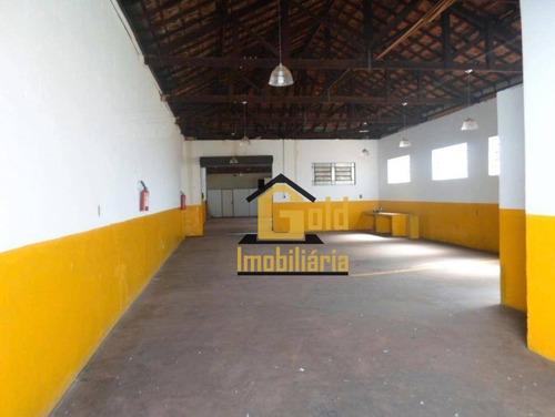Imagem 1 de 11 de Galpão Para Alugar, 404 M² Por R$ 2.300,00/mês - Ipiranga - Ribeirão Preto/sp - Ga0042