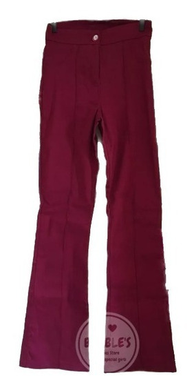 Kit 2 Calças Social Bengaline Flare Costura Perna Do 36 A 46