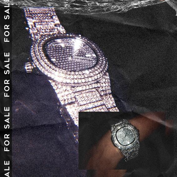 Kit Ice - Relógio Patek + Chain Cubana 50cm