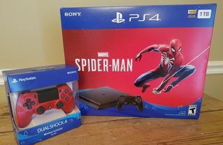 %100 Nueva Sony Ps4 Slim, 1tb + Consola Spiderman 4 Jugos