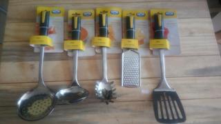 Conjunto Utensílios Para Cozinha Aroma Mor 5pcs Inox