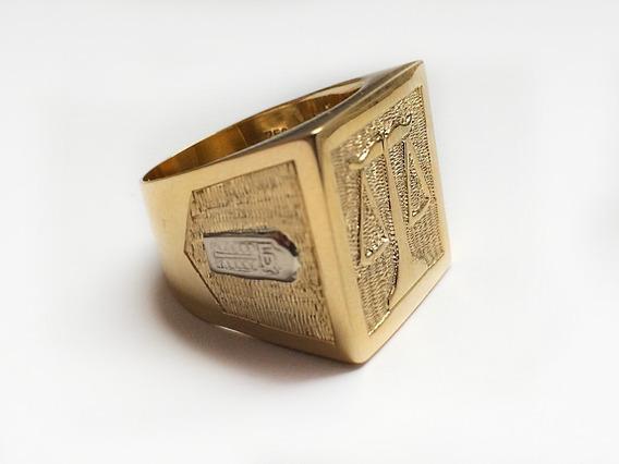 Anel De Formatura Curso Direito Em Ouro 18k Artesanal Único
