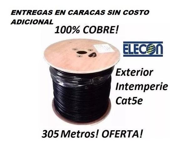 Cable Utp Cat5e Bobina Cctv Intemperie Exterior Elecon