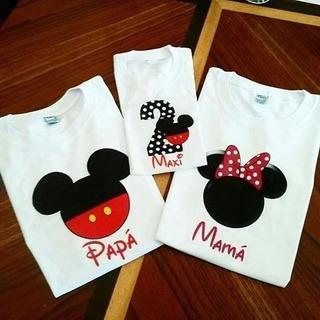 Playera Personalizada Disney Cumpleaños Niños Paquete