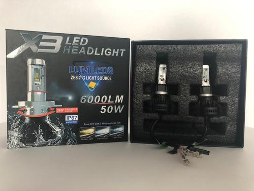 Luces Led X3 H1 Carro Ip67 12000lm 50w Reales Csp Garantia