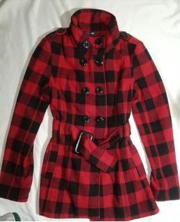 Abrigo Rojo Cuadrículado