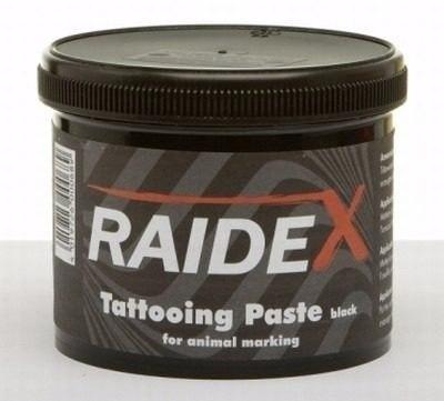 Pote Tinta Tatuagem Raidex Preta 600gr