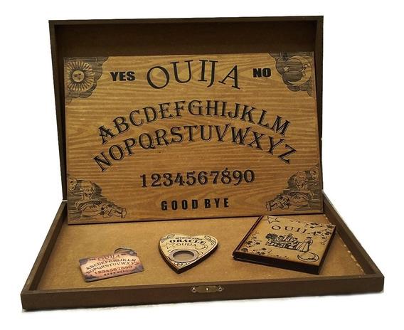 Tabuleiro De Ouija C/ Maleta Verniz Rudez
