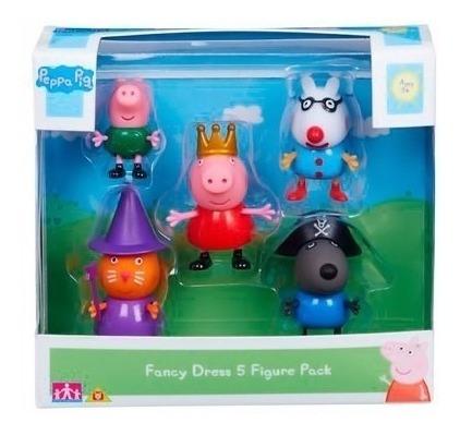 Peppa Pig E Sua Turma Conjunto Com 5 Bonecos Peppa Pig Dtc