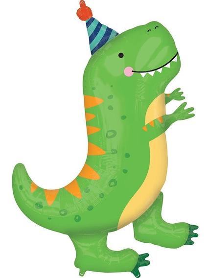 Globo De Dinosaurio Feliz Cumpleaños, Happy Birthday