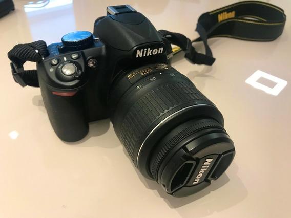 Câmera Dslr Nikon D3100 Alça + Carregador + Lente + Brinde