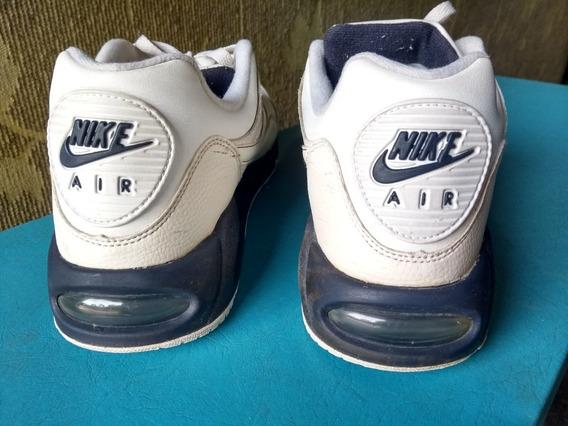 Zapatillas Calzado Nike Air Max Hombre Cuero Blancas