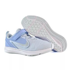 Tenis Niña Nike Downshifter 9 Azul Jr Originales Casuales