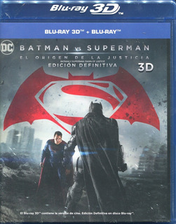 Batman Vs Superman. Pelicula En Blu-ray 3d. Edición Definit