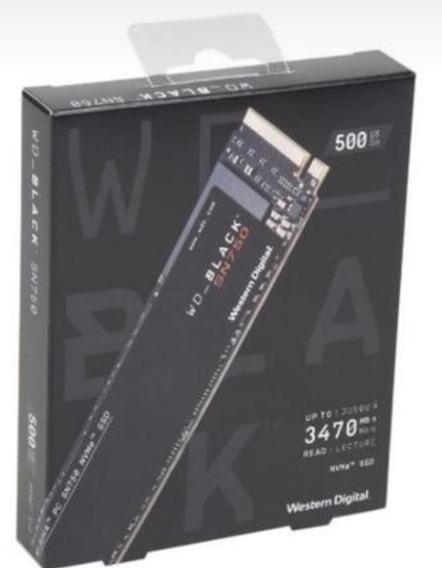 Ssd Wd 500 Gb Black Nvme Pci3.0 Rápido,top Da Wd P/ Gamers