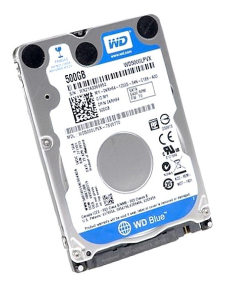 Disco Duro 2.5´ 500gb Sata Western Digital Laptop Pc Sellado