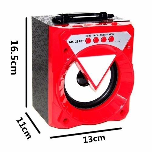 Kit 3 Caixa Som Bluetooth Portátil Rádio Fm Usb Micro Sd 8w