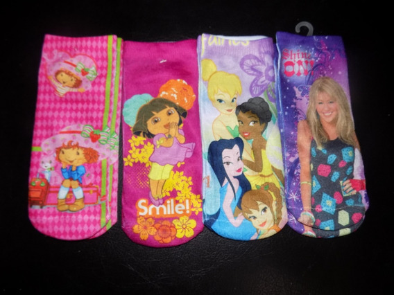 Medias Disney Hanna Princesas Hello Kitty Dora Niñas 8 Pack