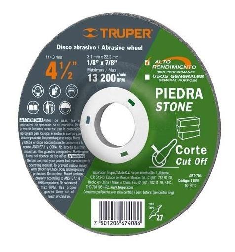 Disco T.27 Corte Piedra 4-1/2