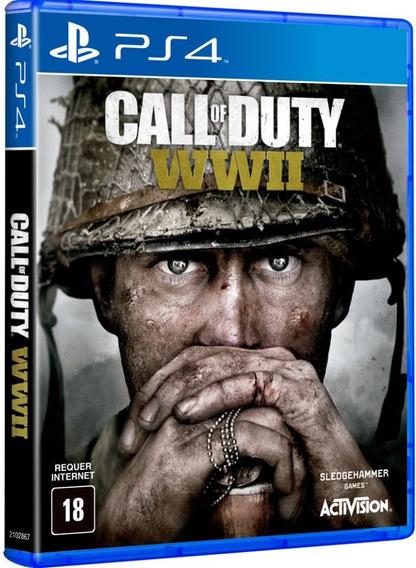 Jogo Call Of Duty Ww2 Ps4 Original Midia Fisica Cd Original
