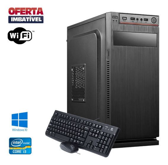 Pc Desktop I3 480gb 4gb Ram Windows 10 Teclado E Mouse