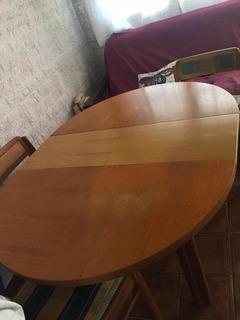 Mesa Comedor De Nogal, Se Agranda.