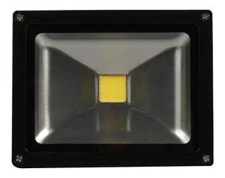 Reflector Iluminación Led Metal Negro Energía 20w