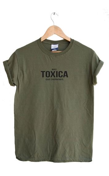 Playera Unisex/dama/caballero Toxica Tumblr Olivo