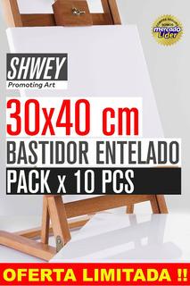 Pack X 10 Bastidor Entelado Shwey 30x40 !! Envio Gratis !!