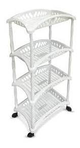 Organizador Fruteira Vertical Com 4 Andares Multiuso Branco