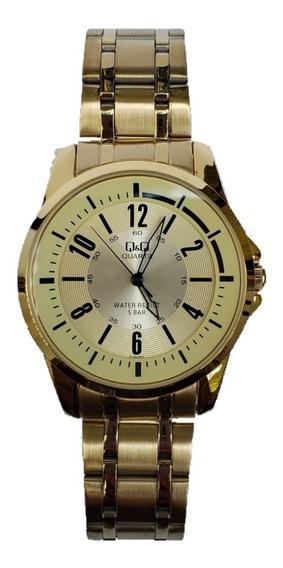 Reloj Para Caballero Citizen Qyq Original Dorado 800y