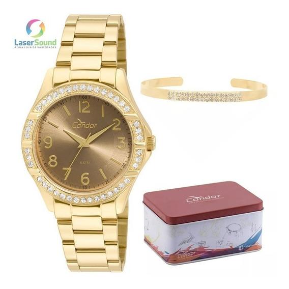 Relógio Condor Feminino Kit Co2035kus/k4m, C/ Garantia E Nf