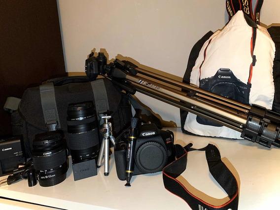 Camera Canon Eos Rebel T6 Dslr E Acessórios Todos Inclusos.