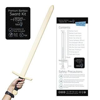 Kit De Espada De Bambú Premium - Proyecto De Arte Divertido
