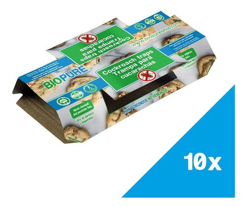 Imagen 1 de 6 de Trampa Para Cucarachas Ecológico Kit 10 Piezas
