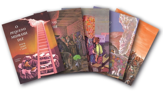Coleção O Pequeno Midrash - 5 Volumes - Capa Brochura