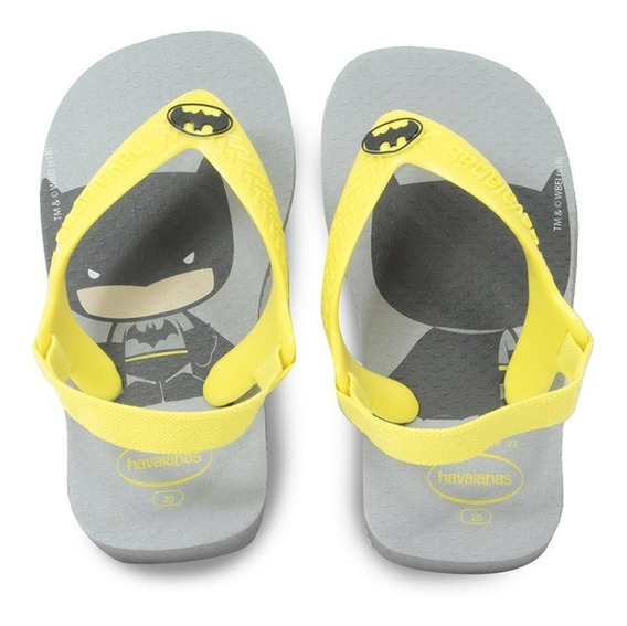 Chinelo Havaianas Infantil New Baby Herois Batman 7010861