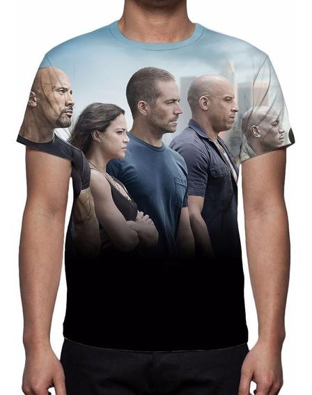 Camiseta, Camisa Velozes E Furiosos 7