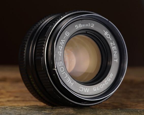Lente M42 Helios 58mm 2.0 Zenit 44m-6