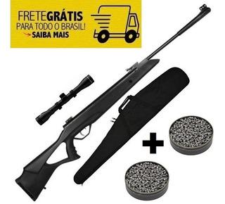 Carabina Pressao Gas Ram Sag Rossi R1000 Suspa 5.5mm + Capa